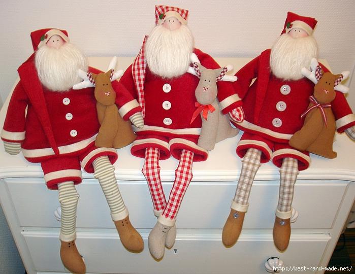 Новогодние дед мороз своими руками фото