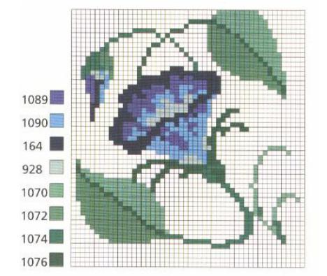 Вышивка для саше и подушечки. Схемы (2) (468x395, 346Kb)