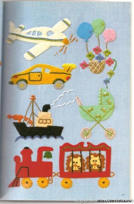 Аппликация с вышивкой для детских вещей. Японский журнал (15) (462x700, 275Kb)