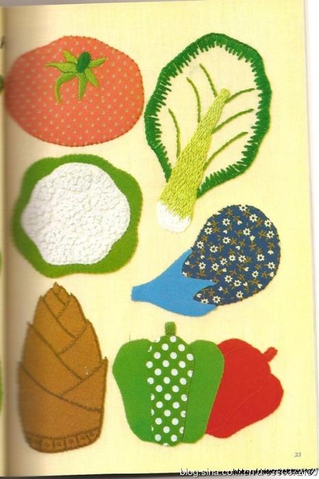 Аппликация с вышивкой для детских вещей. Японский журнал (17) (466x700, 240Kb)