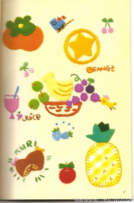 Аппликация с вышивкой для детских вещей. Японский журнал (19) (462x700, 197Kb)