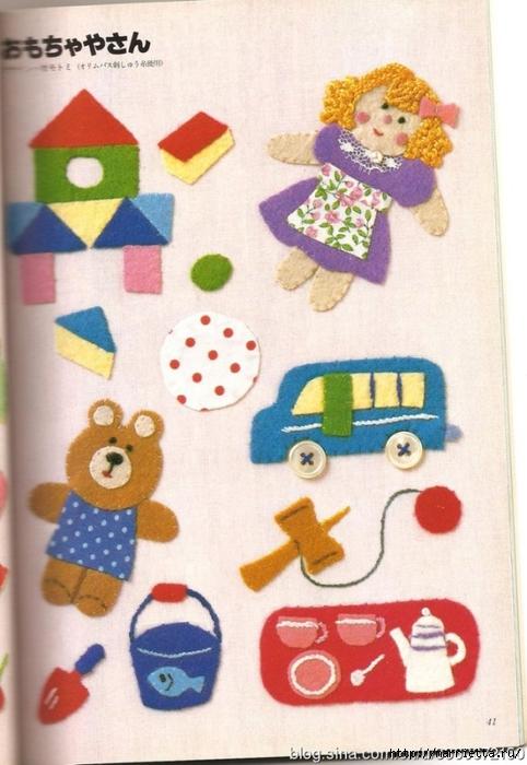Аппликация с вышивкой для детских вещей. Японский журнал (21) (482x700, 248Kb)
