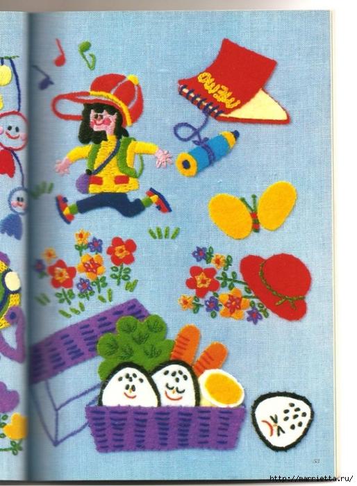 Аппликация с вышивкой для детских вещей. Японский журнал (27) (514x700, 305Kb)