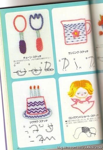 Аппликация с вышивкой для детских вещей. Японский журнал (34) (353x512, 123Kb)