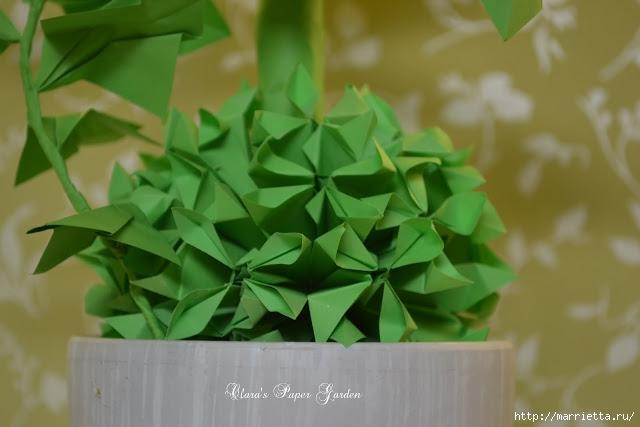 Подсолнухи в технике оригами. Идеи для вдохновения (4) (640x427, 121Kb)