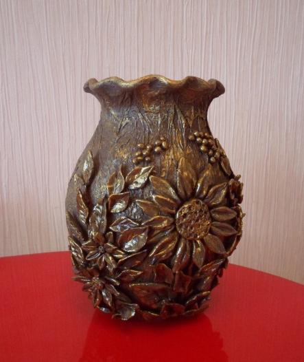 Декорирование вазочки самозатвердевающей массой керапласт (7) (443x526, 467Kb)