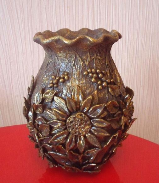 Декорирование вазочки самозатвердивающей массой керапласт (9) (505x584, 651Kb)
