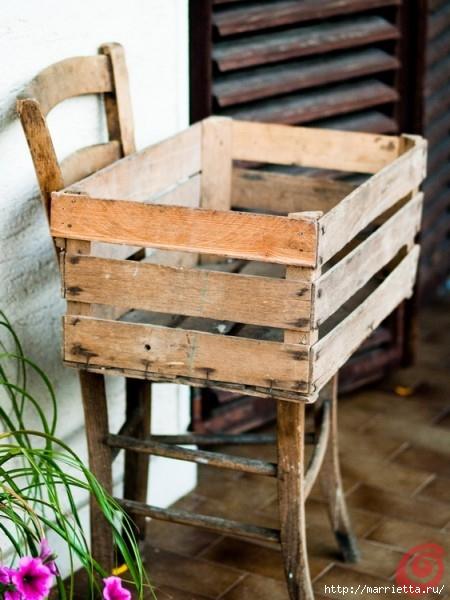Деревянный ящик в интерьере (16) (450x600, 167Kb)