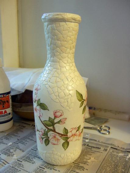 Как сделать вазу для цветов из бутылок