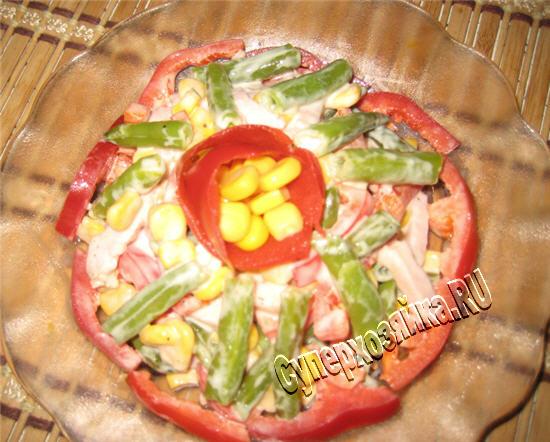 рецепт салат с красной фасолью и курицей рецепт с фото