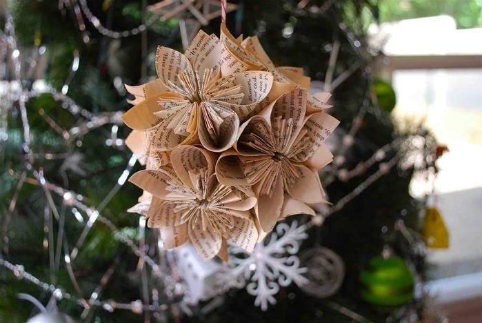 Рождественское оригами