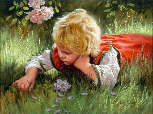 Иллюстрации Джим Дэли! Дети и животные!
