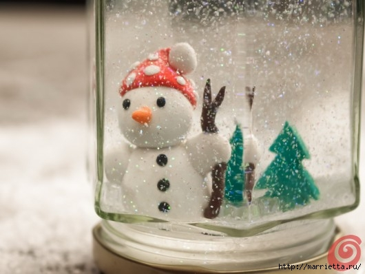 Новогодний снежный шар из банки, своими руками (6) (530x398, 108Kb)