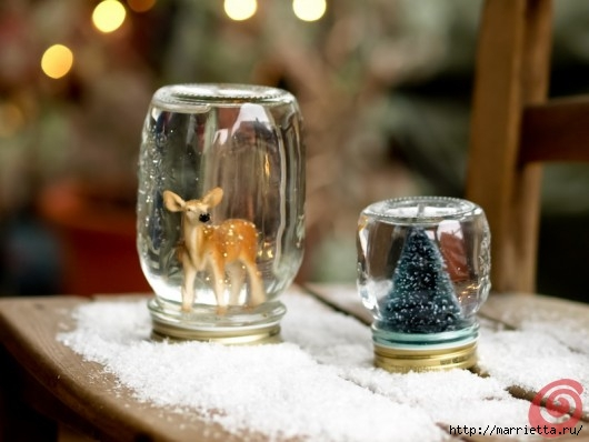 Новогодний снежный шар из банки, своими руками (8) (530x398, 107Kb)