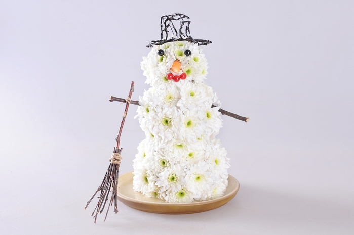 Снеговик из цветов МК (9) (700x465, 144Kb)