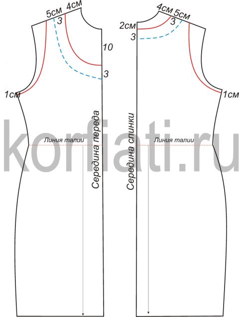 Как сделать выкройку для прямого платья с рукавами фото 309