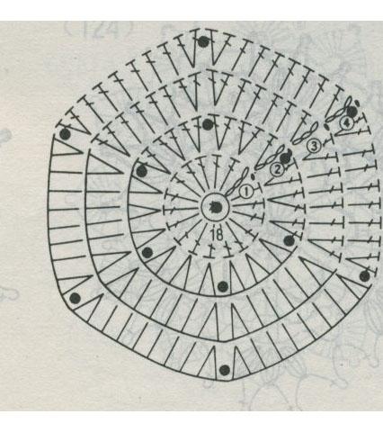 Стильный нежный кардиган крючком из мотивов (9) (426x480, 144Kb)