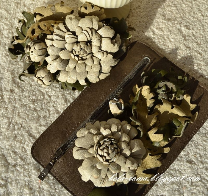 хризантема из кожи (4) (700x658, 406Kb)