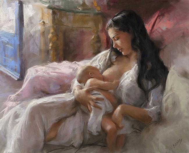 Лучики восхода, капельки любви! Мама и дитя!