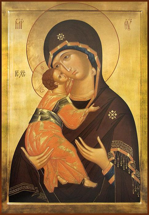 1.Владимирская икона Божьей матери (485x700, 96Kb)