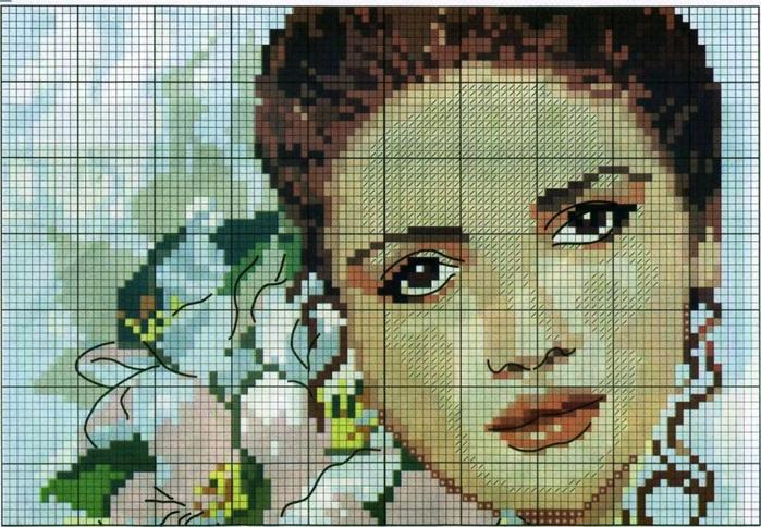 Вышивка крестом портреты 42