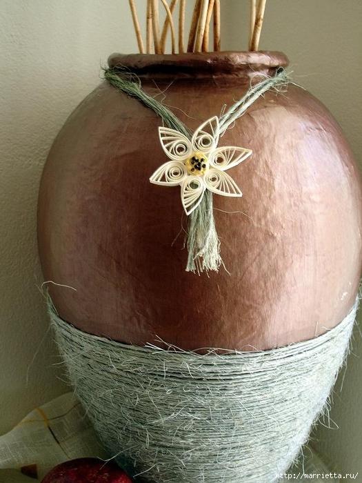 Напольные вазы из папье маше своими руками
