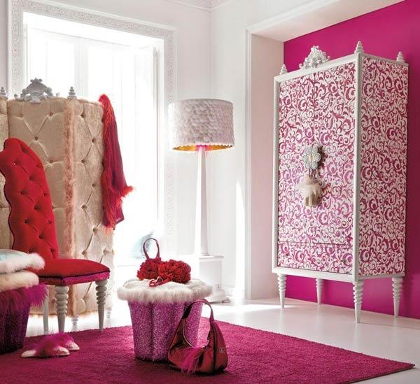 Дизайн интерьера. Комната для девочки-подростка (7) (600x549, 182Kb)
