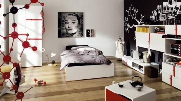 Дизайн интерьера. Комната для девочки-подростка (48) (600x336, 106Kb)