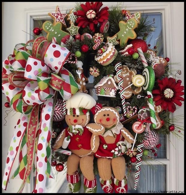 Рождественский венок своими руками (3) (620x650, 346Kb)