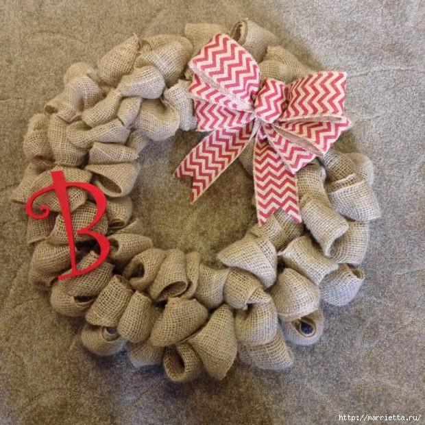 Рождественский венок своими руками (5) (620x620, 318Kb)