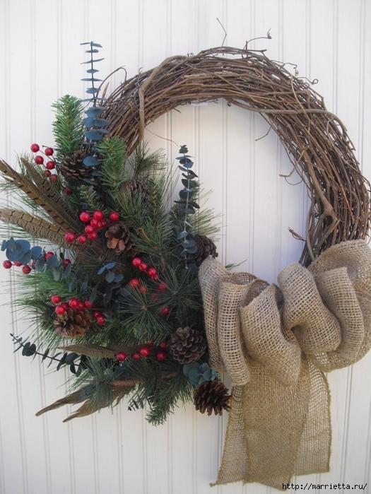 Рождественский венок своими руками (7) (525x700, 288Kb)