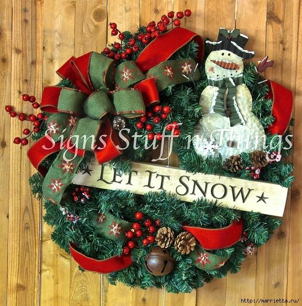 Рождественский венок своими руками (12) (620x627, 383Kb)