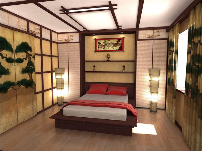 красивый дизайн спальни 18 (700x525, 358Kb)