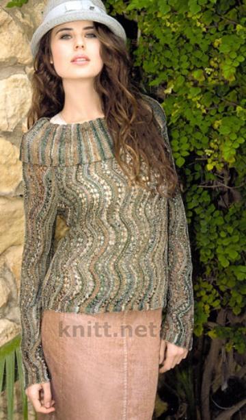 azhurnyj-pulover-zelenogo-cveta-spicami (360x613, 85Kb)