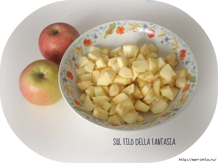 Яблочный пирог. Простой рецепт, но очень оригинальное оформление (1) (700x525, 196Kb)