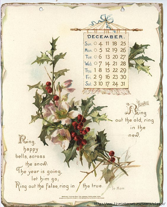 Vintage Calendar 2017 Printable : Календарь на год Обсуждение liveinternet