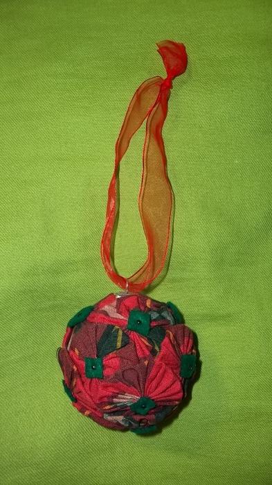 Текстильный елочный шар в технике йо-йо. Мастер-класс (21) (393x700, 215Kb)