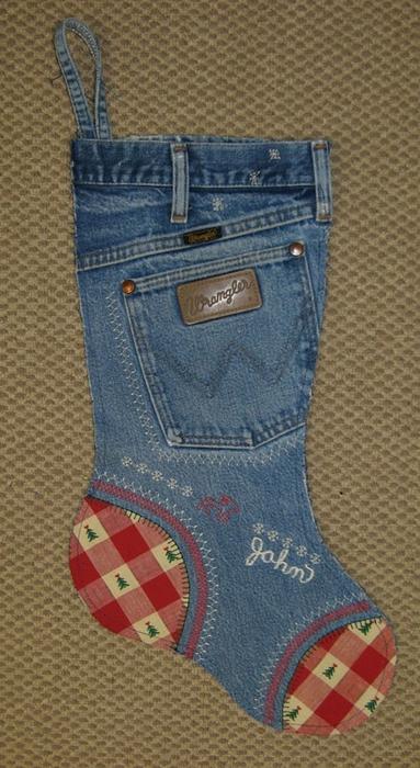 Media de Navidad de viejos pantalones vaqueros (8) (383x700, 240Kb)