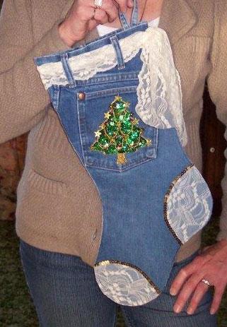Рождественский чулок из старых джинсов (12) (321x463, 116Kb)