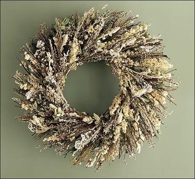 Венок новогодний своими руками из сосновых веток