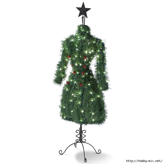 Alternative-Christmas-tree-ideas-The-Fashionista-Christmas-Tree-fir-tree-texture-lights-and-globes (570x571, 95Kb)