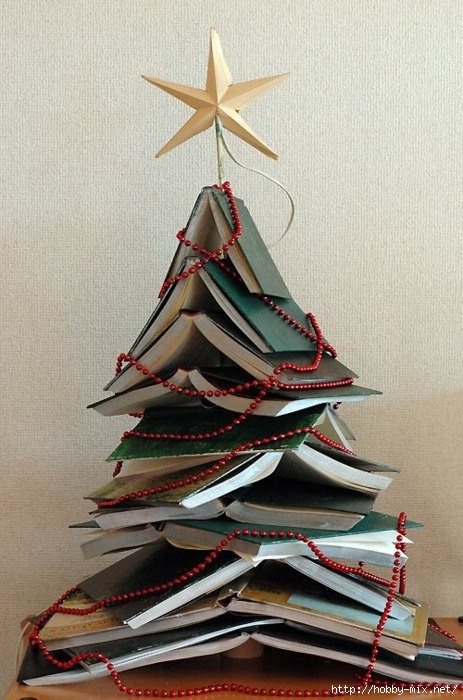 Alternative-Christmas-tree-ideas-tree-from-books-3 (463x700, 231Kb)