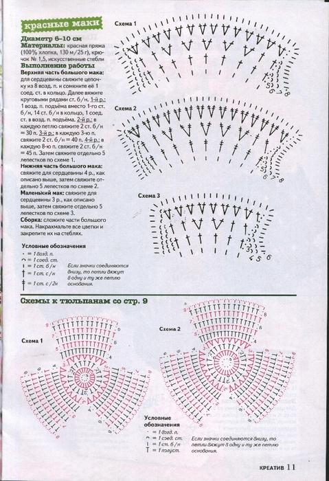 Вязаные цветы журнал (11) (479x700, 304Kb)