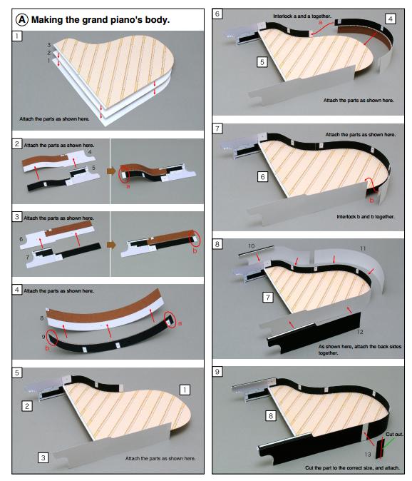 Как сделать пианино из картона
