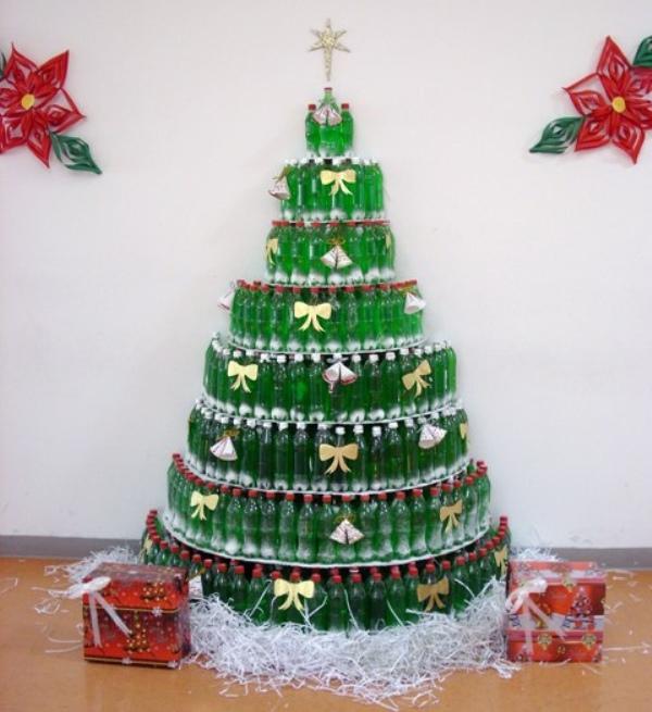 Из чего сделать новогоднюю елку своими руками