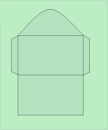 Схематично шаблон конверта