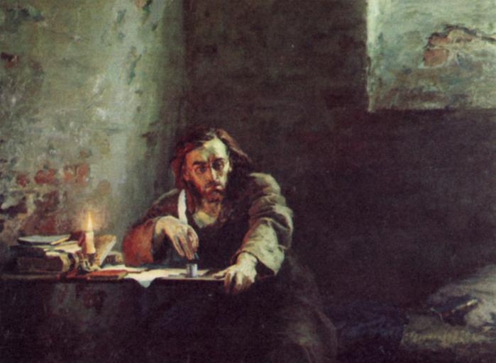 Чернышевский пишет роман 'Что делать'