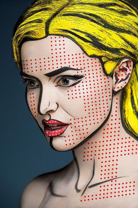 боди арт на лице фото 3 (466x700, 309Kb)