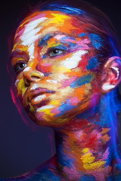 боди арт на лице фото 5 (466x700, 278Kb)
