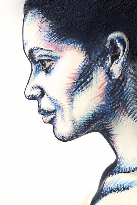 боди арт на лице фото 6 (466x700, 227Kb)